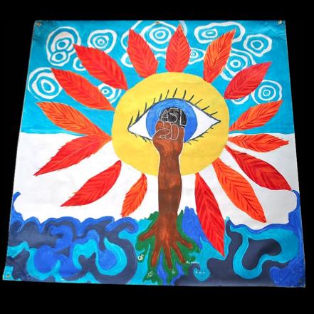 colorado springs De'VIA ARTivism mural banner 2012