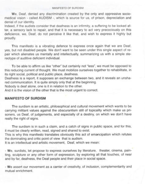 surdism manifesto page 1