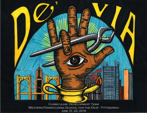 De'VIA Curr VI at Western PA School for the Deaf.  Original logo designed by David Call.  PA themed logo by Jenna Barkey